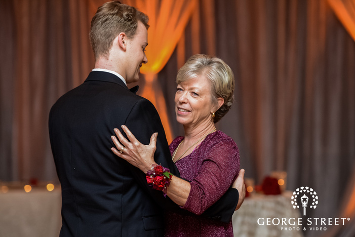 groom and mother reception dance prestonwood country club dallas fort worth wedding photos