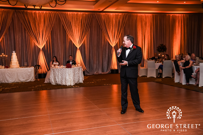 prestonwood country club bride father giving toast dallas fort worth wedding photos