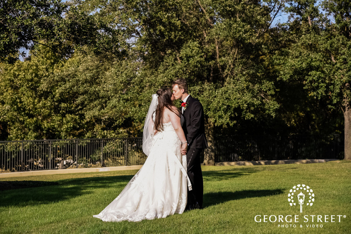 prestonwood country club charming couple greenery dallas fort worth wedding photos