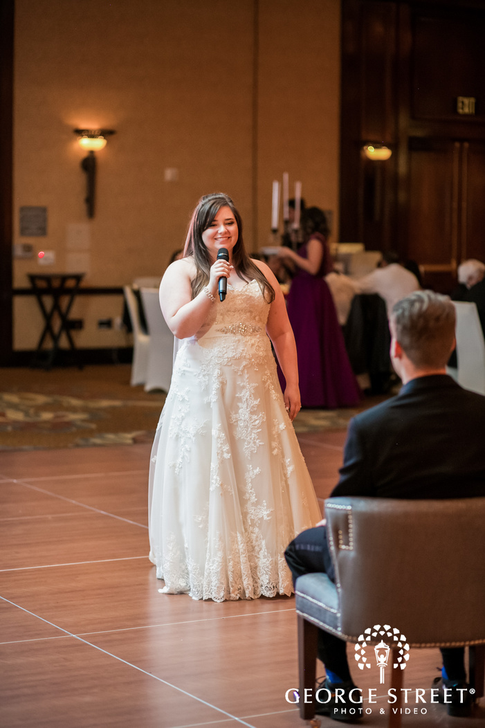 prestonwood country club gorgeous bride reception hall dallas fort worth wedding photos