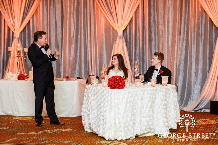 prestonwood country club happy couple during reception toast dallas fort worth wedding photos