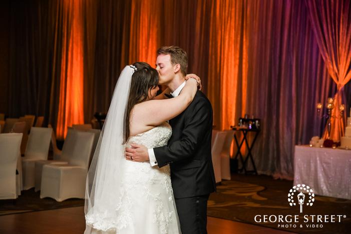 prestonwood country club passionate couple on dancefloor dallas fort worth wedding photos