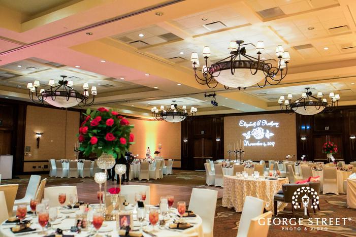 prestonwood country club reception hall table setting dallas fort worth wedding photos