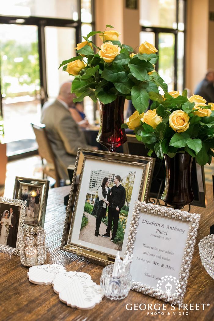 prestonwood country club reception table details dallas fort worth wedding photos