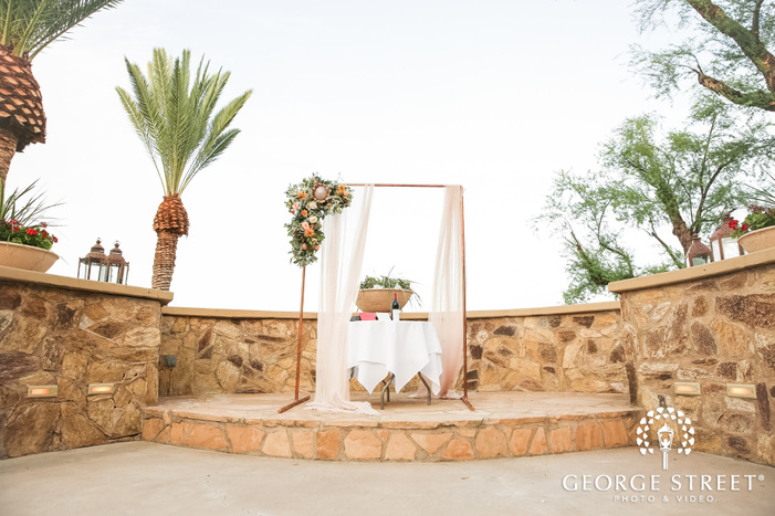 adorable wedding altar setup at wrigley mansion in phoenix wedding photo