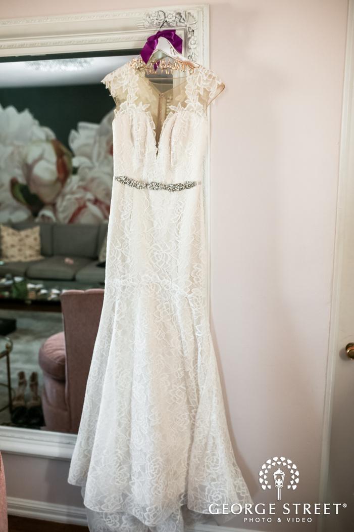 beautiful bridal attire wedding photo