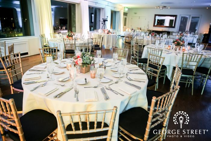 elegant reception table details wedding photo