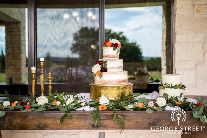 delightful three tier wedding cake wedding photo