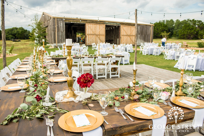 elegant reception table setting details wedding photo
